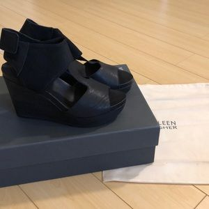 Eileen Fisher Dote Mesh Ankle Wedges